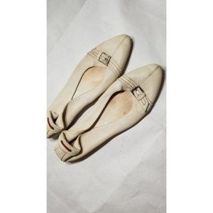 AGL all leather white flats 40